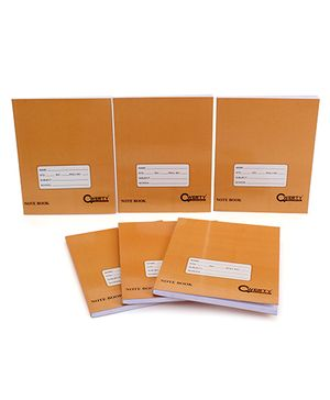Qwerty Small Notebook Hard Cover Pack Of 6 - Brown