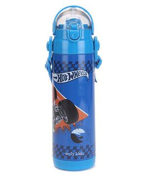 Hot Wheels Thermo Sipper Bottle - Blue