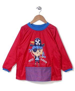 Abracadabra Full Sleeves Apron Pirate Design - Red