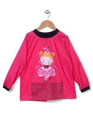 Abracadabra Full Sleeves Apron - Pink