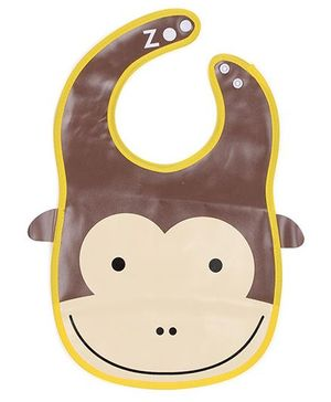Abracadabra Bib Monkey Design - Brown