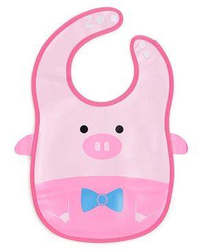 Abracadabra Bib Animal Design - Pink
