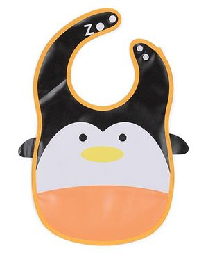 Abracadabra Bib Penguin Design - Orange White Black