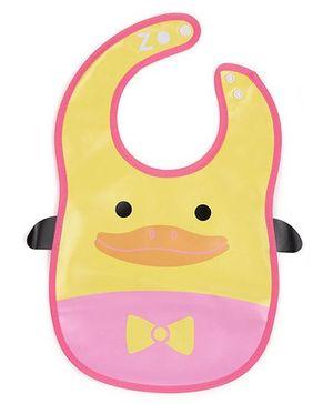 Abracadabra Bib Duck Design - Yellow Pink