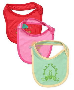 Ohms Bibs Pack of 3 - Red Pink Green
