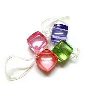 Little Lilies Glass Cube Rubber Band - Multicolour