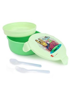 Cello Homeware Polo Round Lunch Box - Green