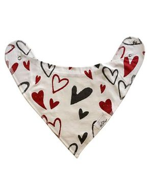 Acute Angle Hearty Drool Scarf Cum Bib - White