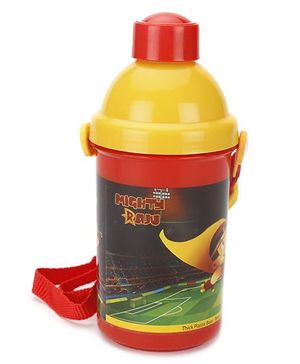 Mighty Raju Water Bottle Red/Yellow - 400 ml