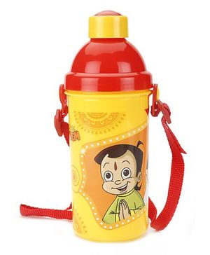 Chhota Bheem Push Button Sipper Bottle Yellow- 450 ml