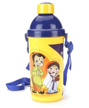 Chhota Bheem Push Button Sipper Bottle  Yellow - 450 ml