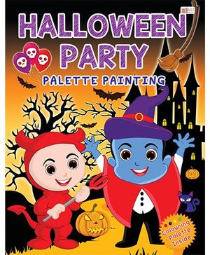 Halloween Party Palette Painting Book - English