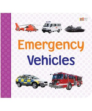 Emergency Vehicles Book - English