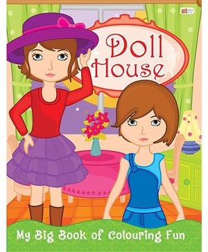 Doll House Coloring Book - English