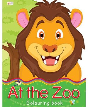 At The Zoo Coloring Book - English