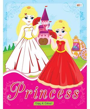 Princess Copy Color Book - English