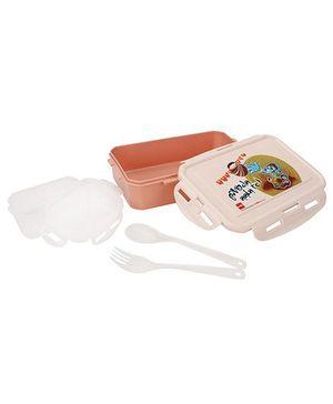 Cello Homeware Lunch Box Govinda Ala Re Print - Peach