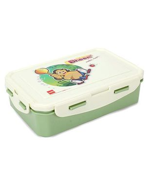 Cello Homeware Super Lunch Box Bheem Print - Green And White