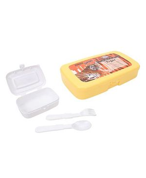 Jewel Big Bite Jungle Safari Tiger Print Lunch Box - Yellow