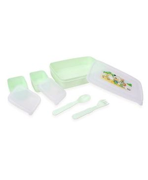 Jewel Lunch Box Set Fun and Frolic Print - Green