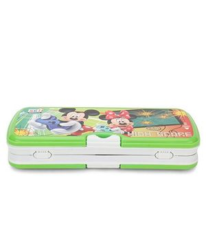 Diney Mickey Mouse Pencil Box - Green White