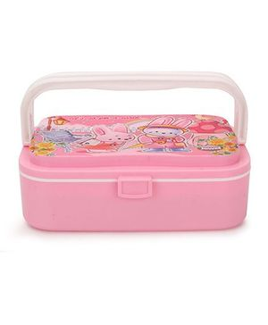 Jewel Printed Lunch Box - Pink