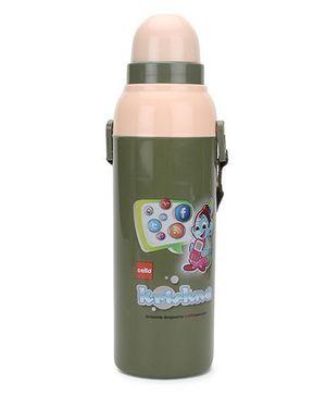Cello Homeware cool wiz Krishna Print Water Bottle Green - 600 ml