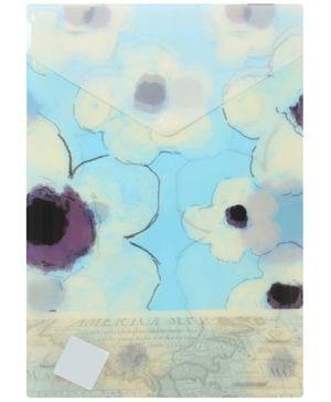 Fab N Funky Folder File - Blue Flowers