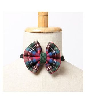 Brown Bows Butterfly Bow Tie Checks Print - Multi Color