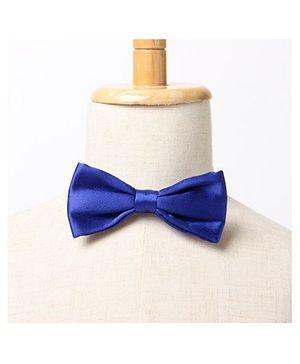 Brown Bows Slim Bow Tie - Blue