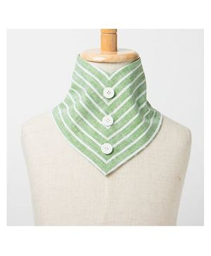 Brown Bows Drool Bib - Green