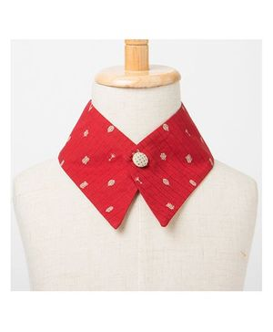 Brown Bows Collar Small - Red