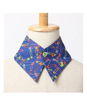 Brown Bows Collar Small - Blue