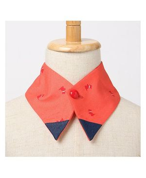 Brown Bows Collar Small - Orange