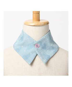 Brown Bows Collar Small - Light Blue