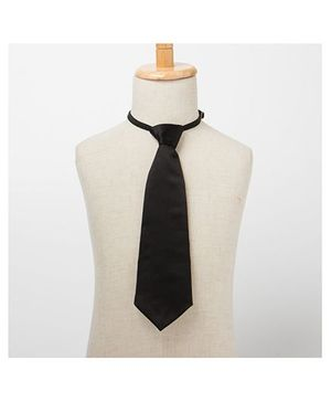 Brown Bows Plain Tie - Black