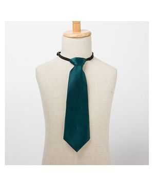 Brown Bows Plain Tie - Green