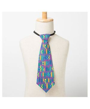 Brown Bows Printed Tie - Multi Color