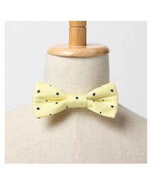 Brown Bows Bow Tie - Yellow