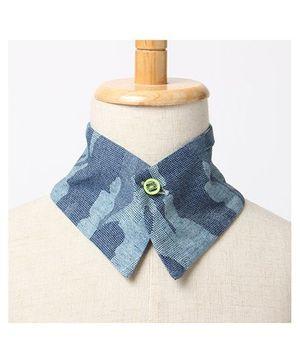 Brown Bows Collar Medium - Blue