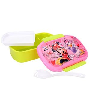 Disney Mickey Mouse & Friends Hide & Seek Music Print Lunch Box - Green & Pink