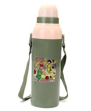 Cello Homeware Cool Wiz Bottle Super Kids Basket Ball Print Sipper Water Bottle Grey - 600 ml