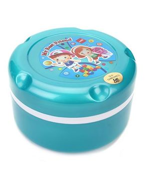 Cello Homeware Insulated Hot Pot Lunch Box My Best Friend Print - Sea Green