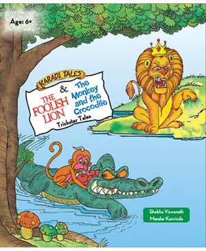 The Foolish Lion & The Monkey & The Crocodile - English