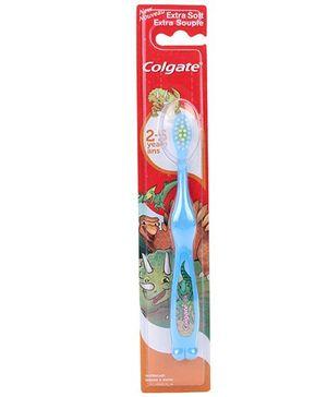 Colgate Extra Soft Toothbrush Dino Print - Blue