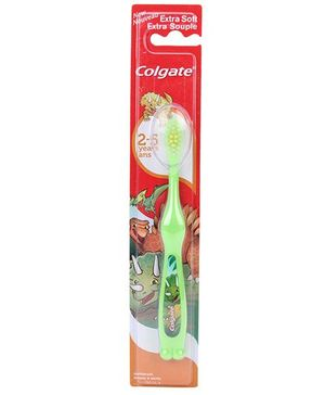 Colgate Extra Soft Toothbrush Dino Print - Green