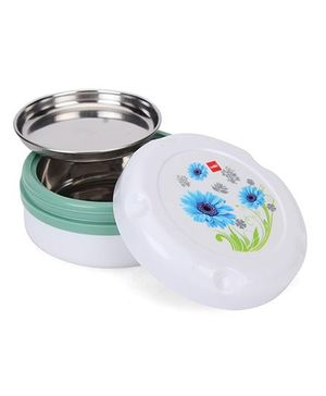 Cello Insulated Hot Pot Small Munch Box With Flower Print - White