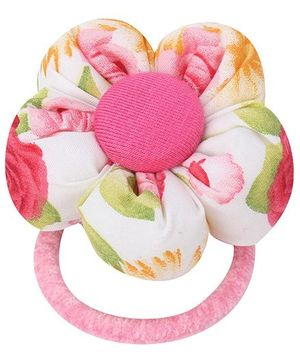 De Berry Big Flower Rubber Band - Light Pink