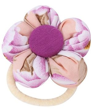 De Berry Big Flower Rubber Band - Peach