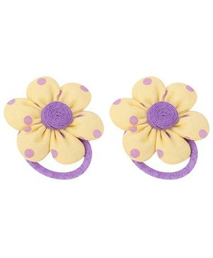De Berry Flower Rubber Band - Yellow